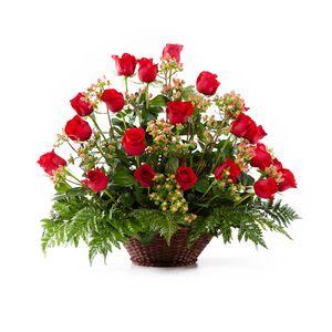 Canasta 24 Rosas Rojas
