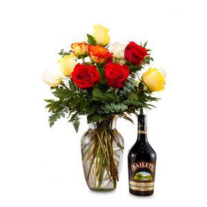 Combo  Rosas Mix y Baileys