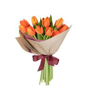 Bouquet 10 Tulipanes Naranjas