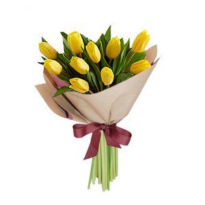Bouquet 10 Tulipanes Amarillos