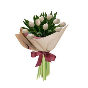 Bouquet 10 Tulipanes Blancos