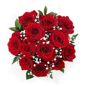 Bouquet de 12 Rosas Rojas Amor+