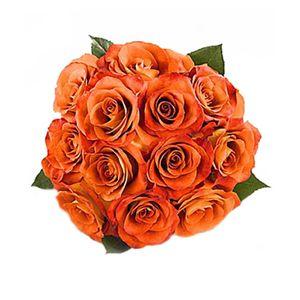 Bouquet de 12 Rosas Naranjas
