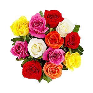 Bouquet de 12 Rosas Impresionista