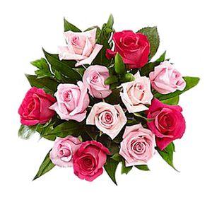 Bouquet de 12 Rosas Tonos de Mamá