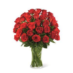 Jarrón de 36 Rosas Rojas