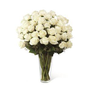 Jarrón de 36 Rosas Blancas