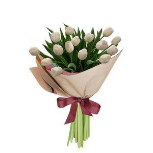 Bouquet 15 Tulipanes Blancos