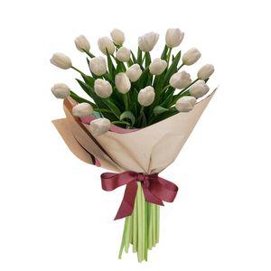 Bouquet 25 Tulipanes Blancos