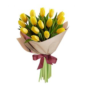 Bouquet 15 Tulipanes Amarillos