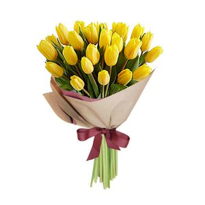 Bouquet 25 Tulipanes Amarillos