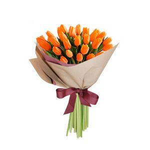 Bouquet 25 Tulipanes Naranjas