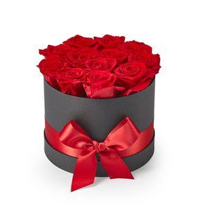 Preservadas Luxury Hat Box Rosas Rojas